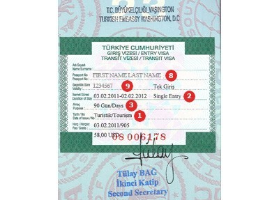 Actual travel visas samples turkey visa sample thecheapjerseys Choice Image