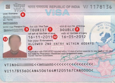 Actual travel visas samples get an india travel visa thecheapjerseys Choice Image
